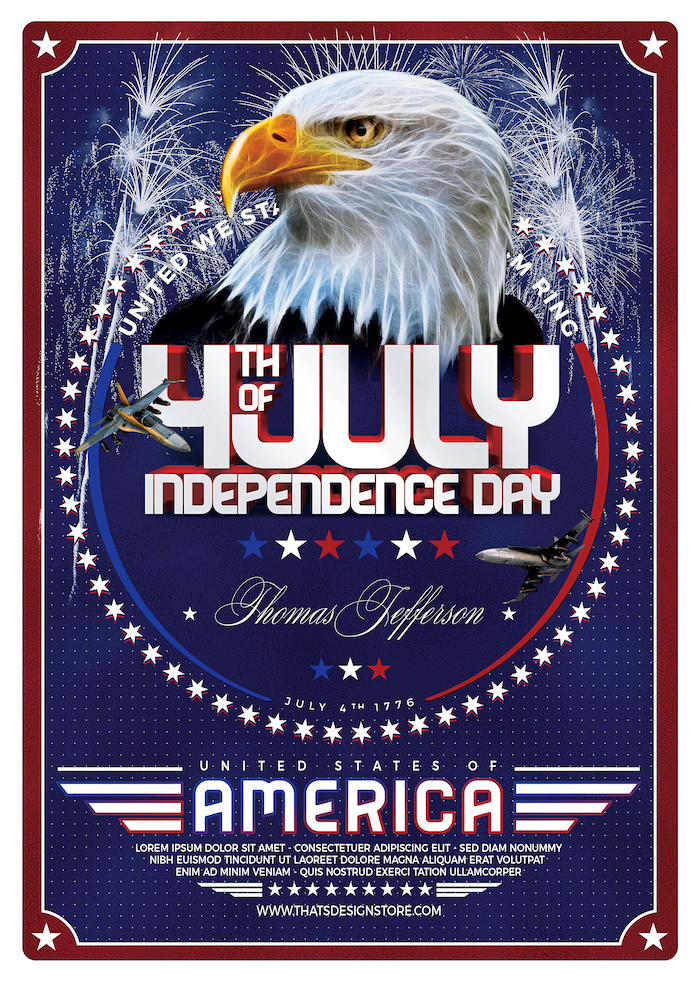 July 4th Independence Day Flyer Template 2