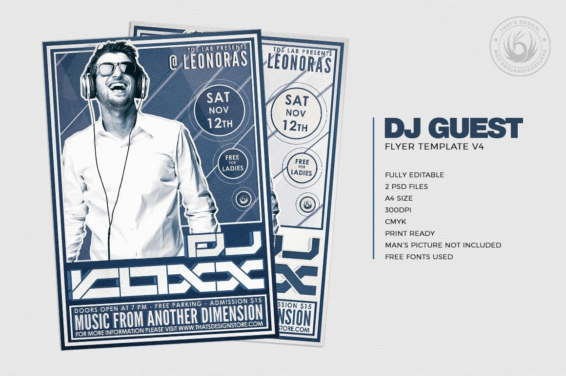 Dj Flyer Template Psd Design Club for Photoshop