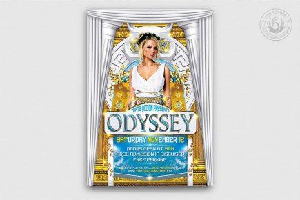 Greek Party Flyer Template