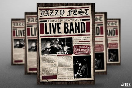 Live Concert Flyer Template PSD download V8