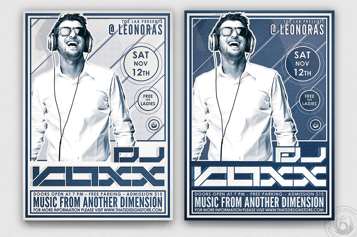 Dj Flyer Template Design Club for Photoshop