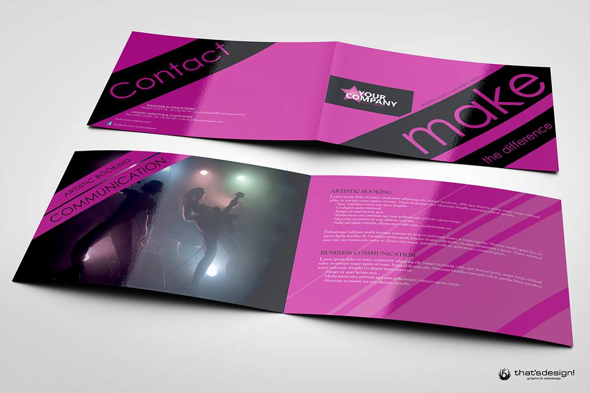 Download thisEvent Brochure Template PSD Design 8 Pages, perfect for anArtisticBooking Agency or a Event Management, editable with photoshop