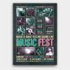 Music Festival Flyer Template Psd download V8