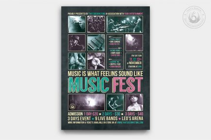 Music Festival Flyer Template Psd download V8