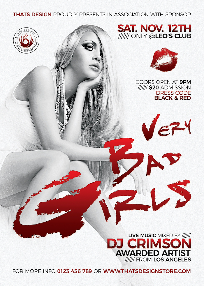 Bad Girls PSD Flyer Poster Template