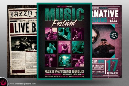 Concert Live Flyer Bundle Template 3