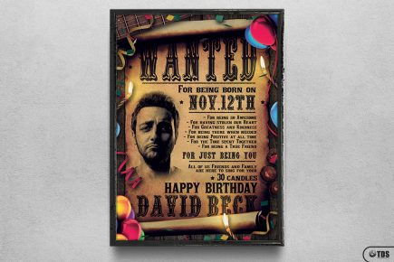 Birthday Party Flyer Template Psd Design for photoshop, Wanted flyers farwest Western music template, rodeo bike cowboy in a coyote bar