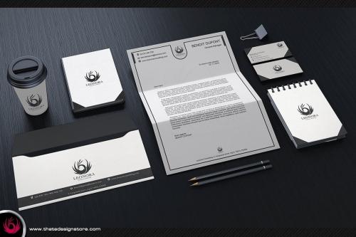 white & Classy Corporate Identity Template
