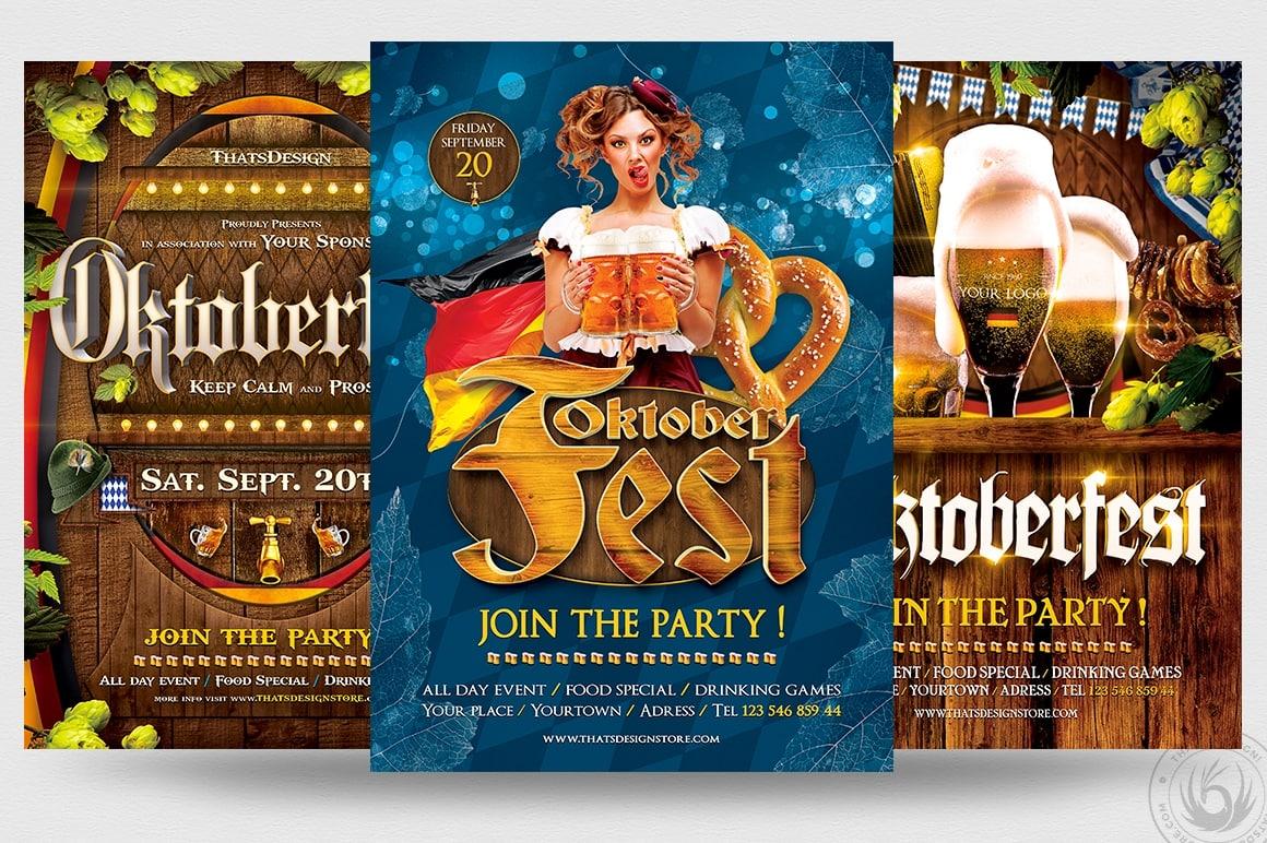 Oktoberfest Flyers Templates Psd for Photoshop V.2