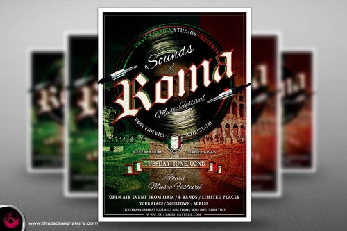 Sounds of Roma Flyer Poster Template 1