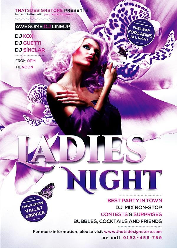 Ladies Night Flyer Template V6