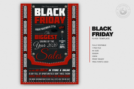 Black Friday Flyer Template psd download