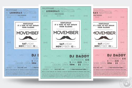 Movember Flyer Template V2