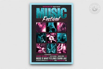 Music Festival Flyer Template 4