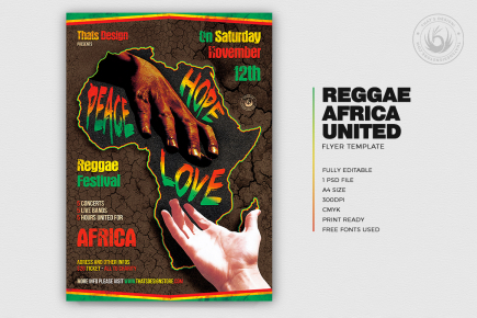 Reggae Africa United Flyer Template