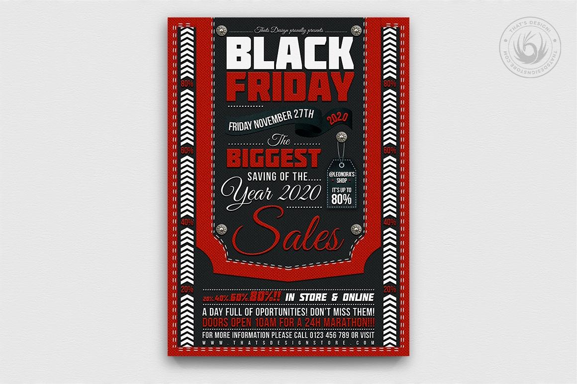 Black Friday Flyer Template PSD