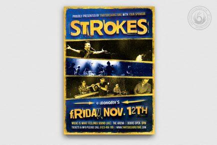 Live Concert Flyer Template V8 | Free posters design for ...
