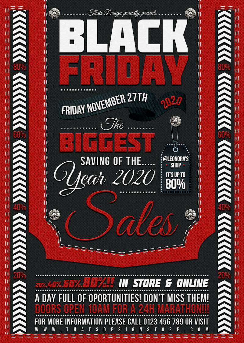 Black Friday Flyer Template Psd Customizable With Photoshop
