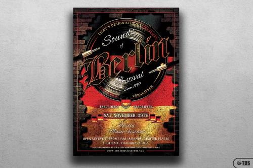 Sounds of Berlin Flyer Template psd design download