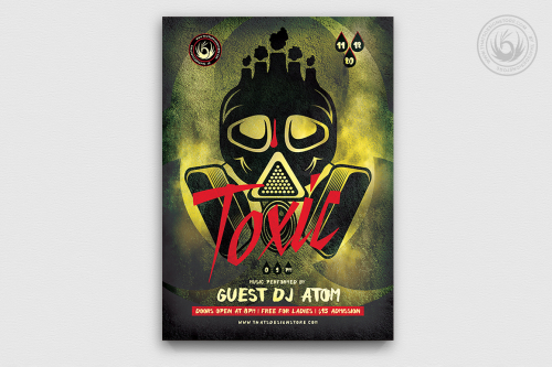 Toxic Night Flyer Template Psd to download for photoshop