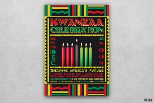 Kwanzaa Flyer Template PSD