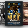 Live Band PSD Flyer Templates Bundle V2