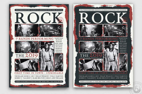Live Concert Flyer Psd Poster Template v9, Alternative band posters, Indie pop rock festival psd templates