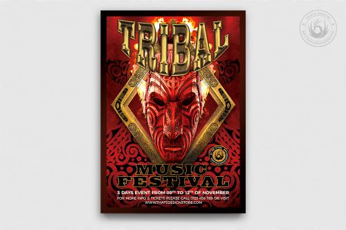 Tribal Music Festival psd Flyer Template