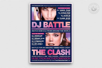 DJ Battle Flyer Template PSD download V2
