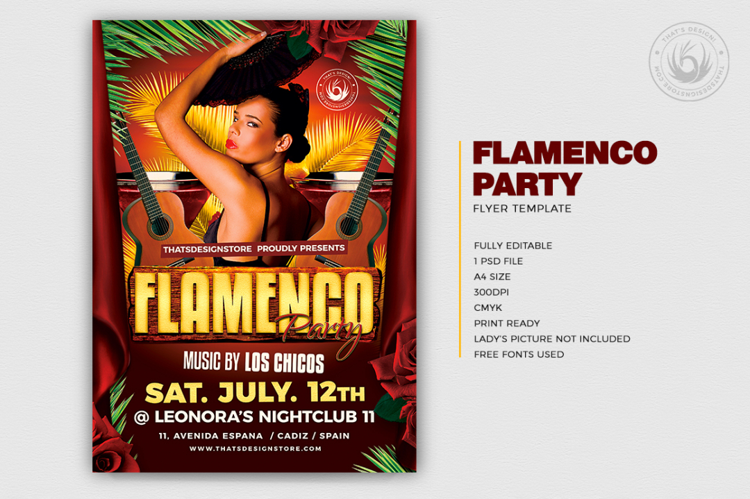 Flamenco Party Flyer Template