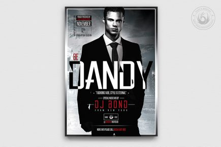 Suit and Tie Flyer Template Psd download, Men's afterwork, Cigare lounge, art gallery, food wine tasting