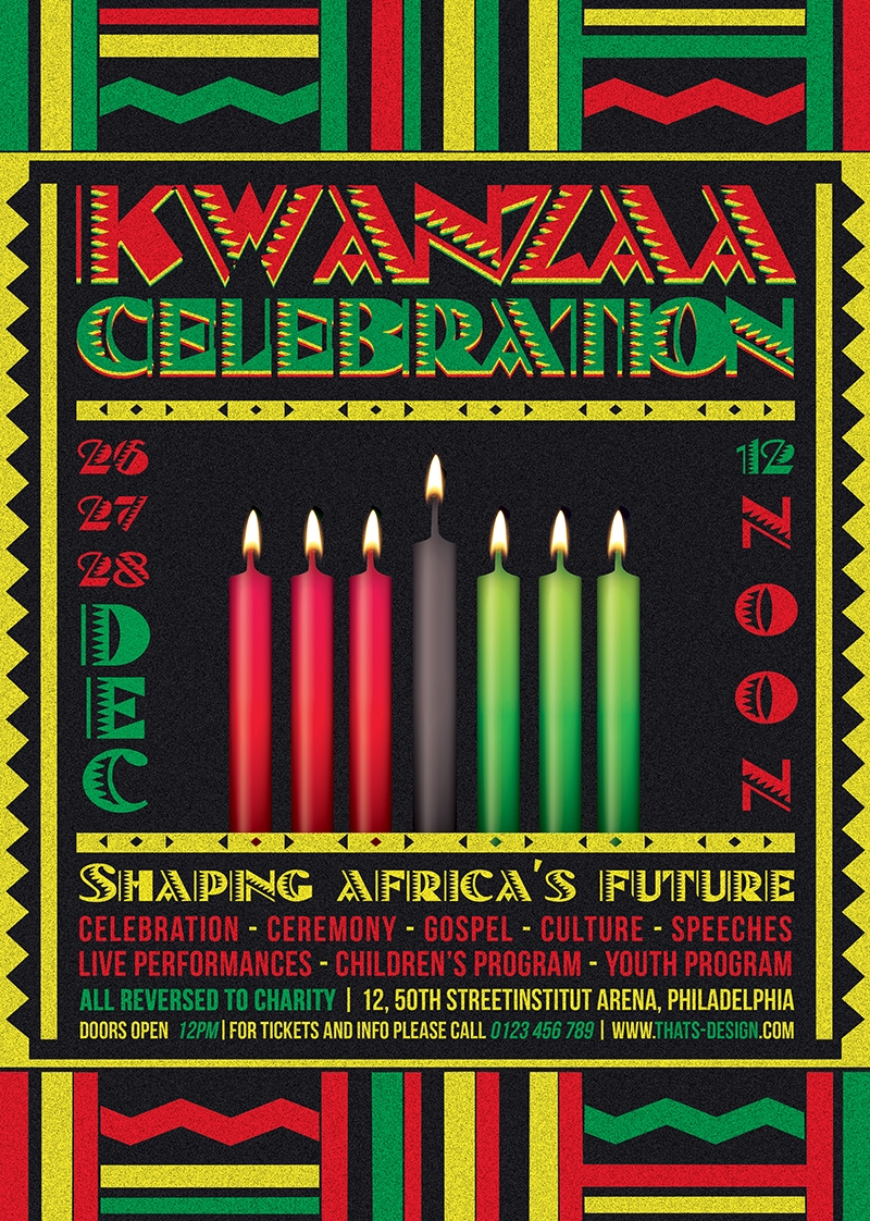 Kwanzaa Flyer Template PSD