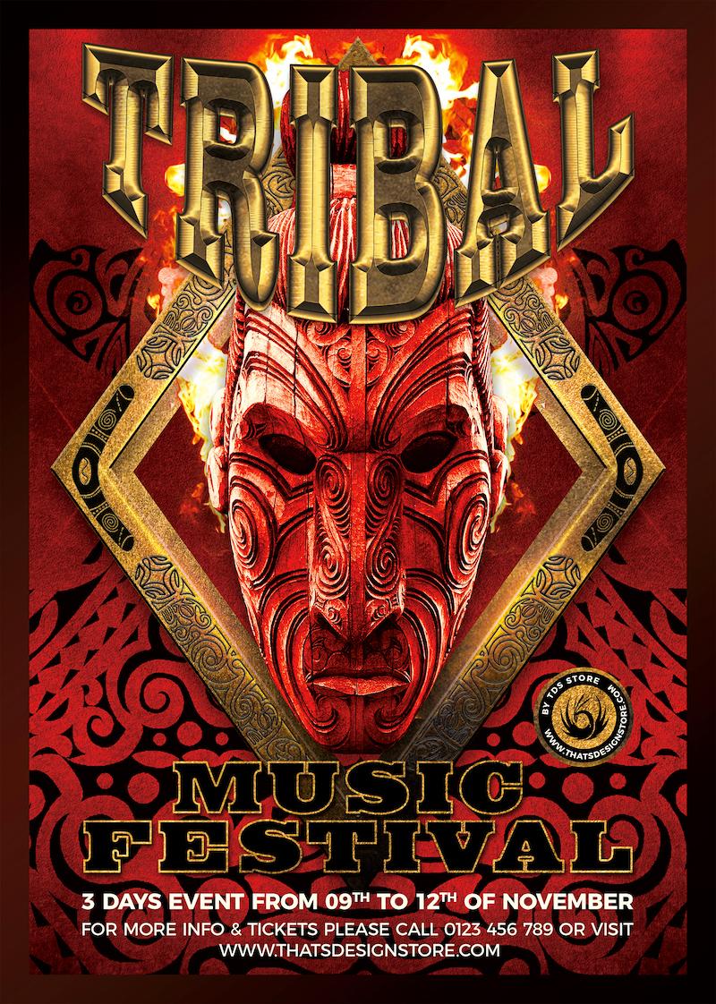 Tribal Music Festival Flyer Template