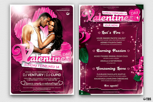 Valentine's Day Flyer + Menu V7