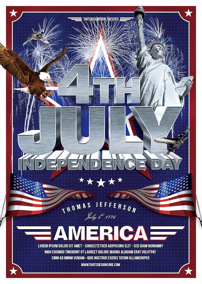 July 4 Independence Day flyer Template V1