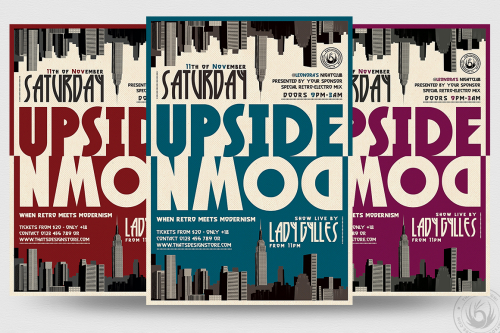 Upside Down Flyer Template psd design download for photoshop