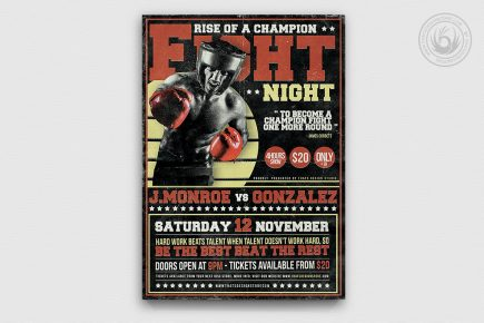 Fight Night Boxing Flyer Template