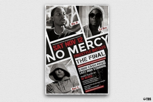 Freestyle Rap Battle Flyer V1, Hip hop Flyer Psd Templates