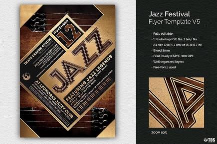 Jazz Festival Flyer Template V5