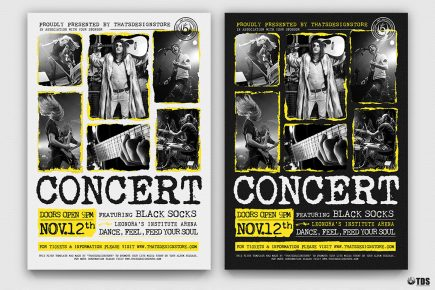 Live Concert Flyer Template PSD V15