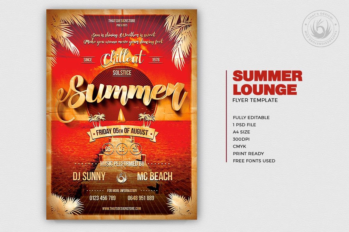 Summer Flyer Templates, Beach Flyer Design & Free Flyer Templates