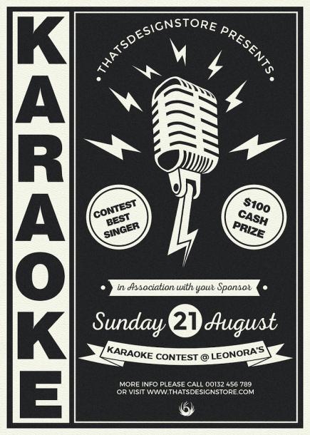 Karaoke PSD Flyer Template Design V3 to download