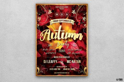 Autumn Equinox Flyer Template