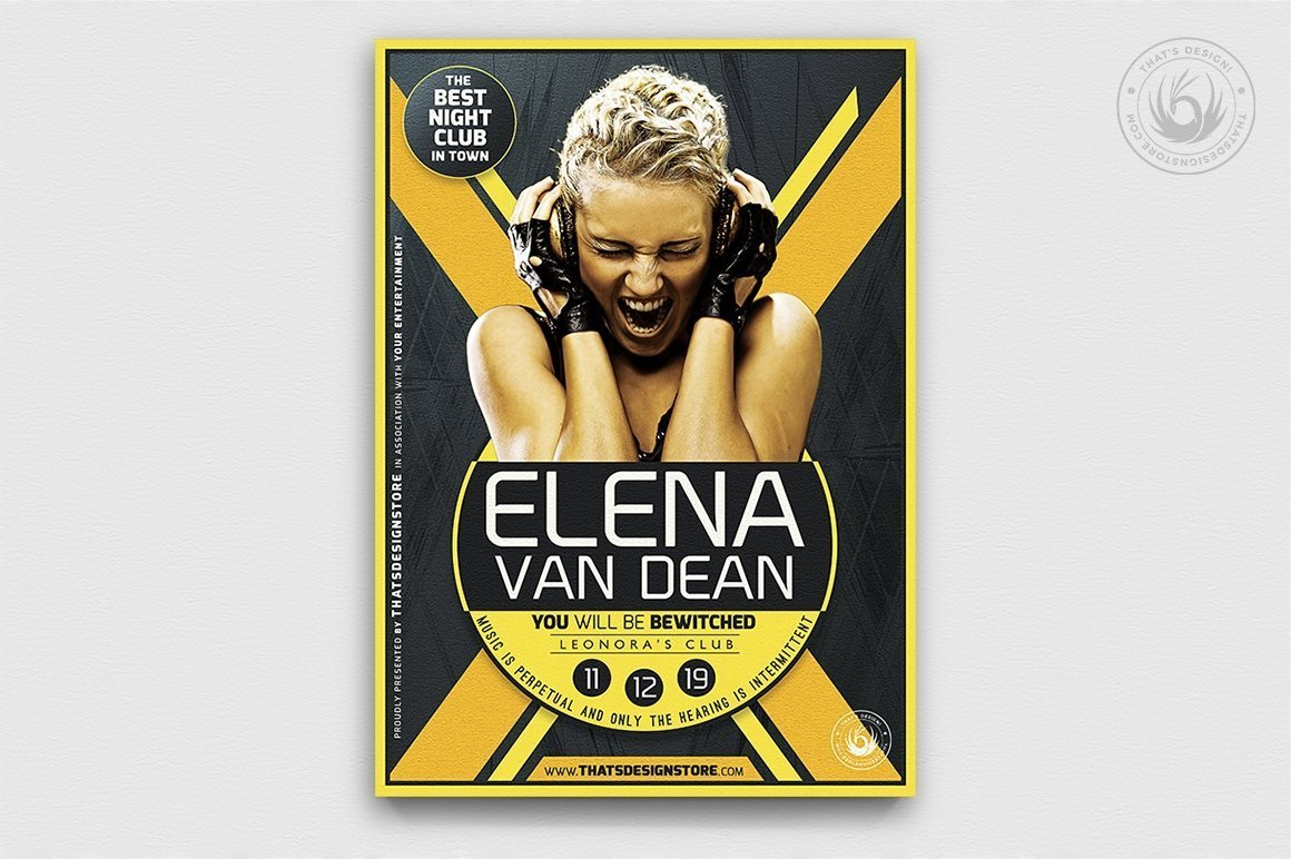 Dj Flyer Psd Template to customize with photoshop