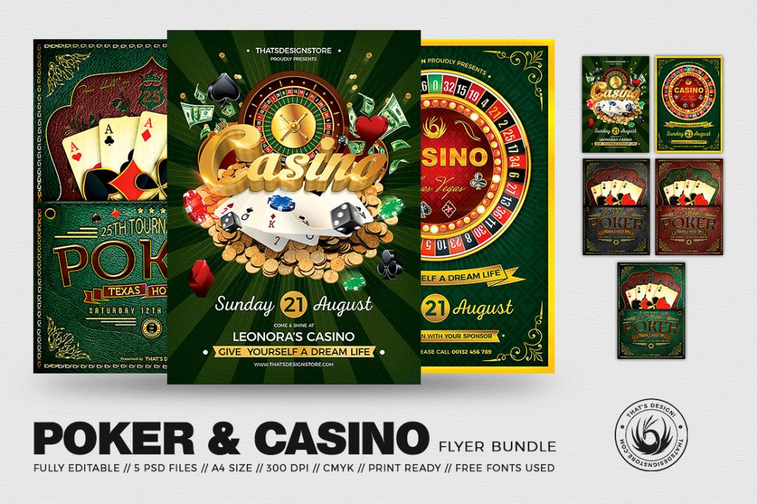 Poker - Casino Flyer Psd Templates Bundle