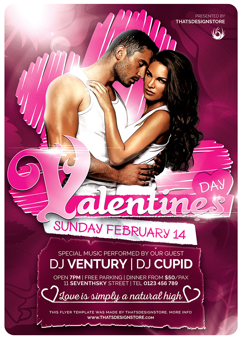Valentine's Day Flyer Template V7
