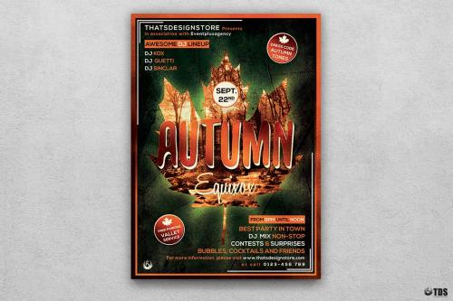 Autumn Equinox Flyer Template V2