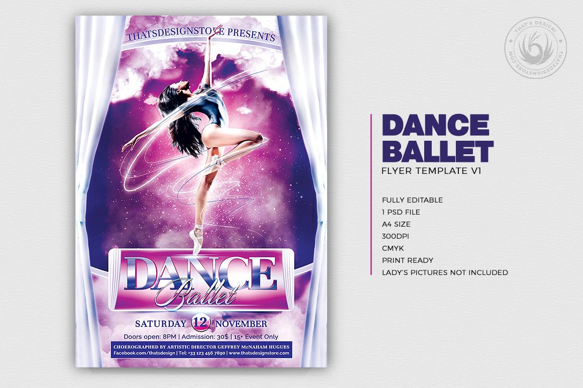 Dance Ballet Flyer Template PSD download V1