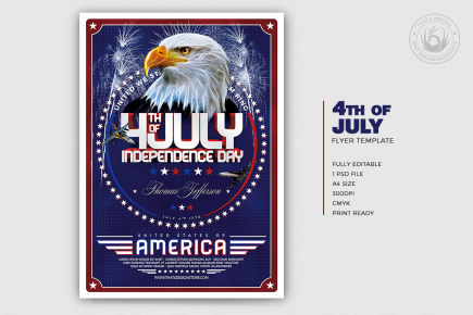 July 4th Independence Day Flyer Template V2