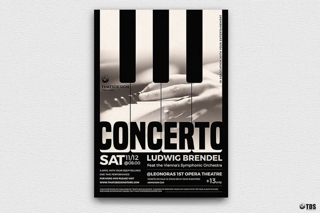 Piano Concerto Flyer Template